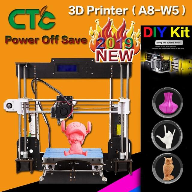 A8 3D Impressora De Alta Precisão Desktop DIY Prusa Impressora Da Tela De LCD Assembléia Auto Suporte Acrílico