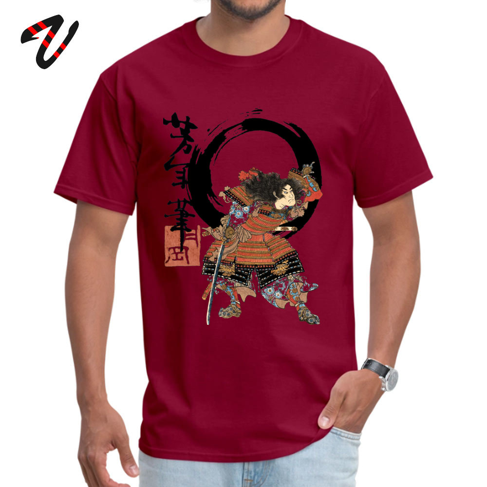 Samurai Flipping! 2018 Newest Camisa Tshirts Crewneck 100% Cotton Short Sleeve Tops Shirts for Men T Shirts Thanksgiving Day Samurai Flipping! -17860 maroon