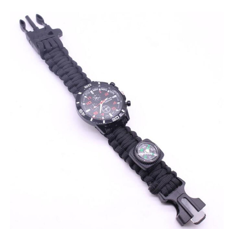 Military Outdoor Paracord Survival Bracelet Compass (3)