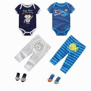 Image 4 - スーパーソフト綿 100% の夏の少年少女半袖 o ネック 6 12 m 赤ちゃんジャンプスーツの女の子 ropa ベベベビー服
