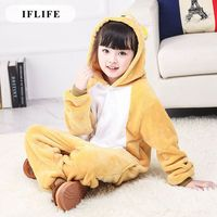 Pijama Infantil Onesie Hooded Kids Animal Cartoon Pajama Donkey RILAKKUMA Bear Boy Girl Unisex Pyjama