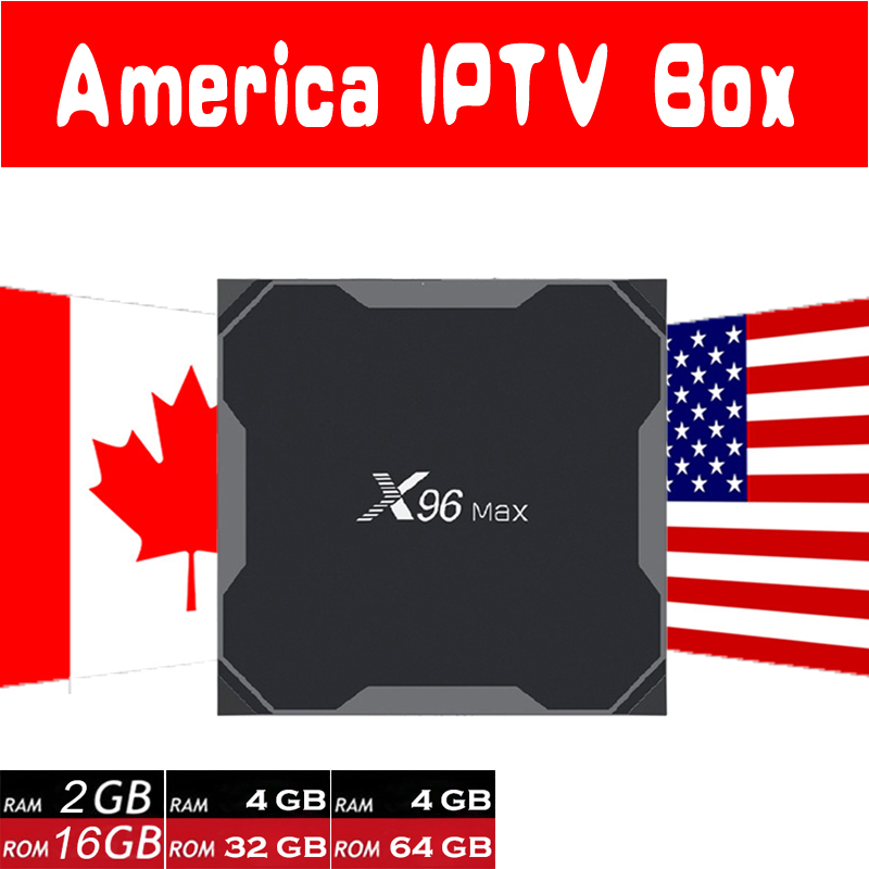 HD World IPTV X96 MAX 2G16G/4G32G/4G64G Android 8 1 TV Box with 8000 Live  8000VOD USA Canada Latino America HD IPTV Smart tv box