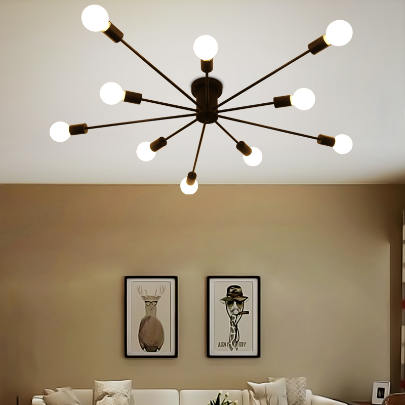 Nordic LED ceiling light modern iron art study living room bedroom personalized restaurant clothing shop lights