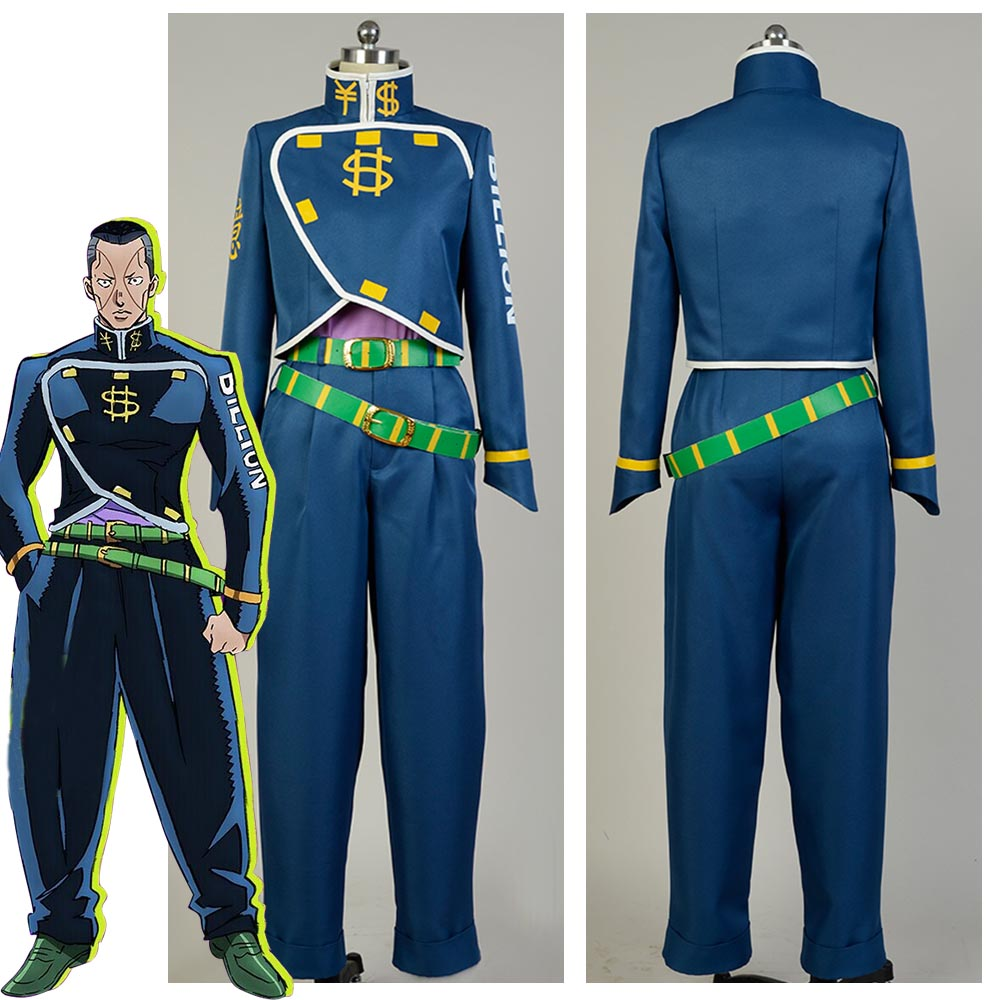 Hot Anime JoJo's Bizarre Adventure Okuyasu Nijimura Cosplay Costume Custom Made Free Shipping