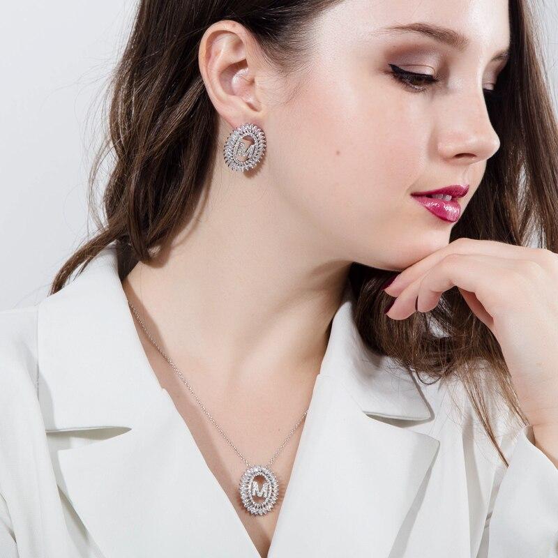 Letter Earrings Jewelry Set19