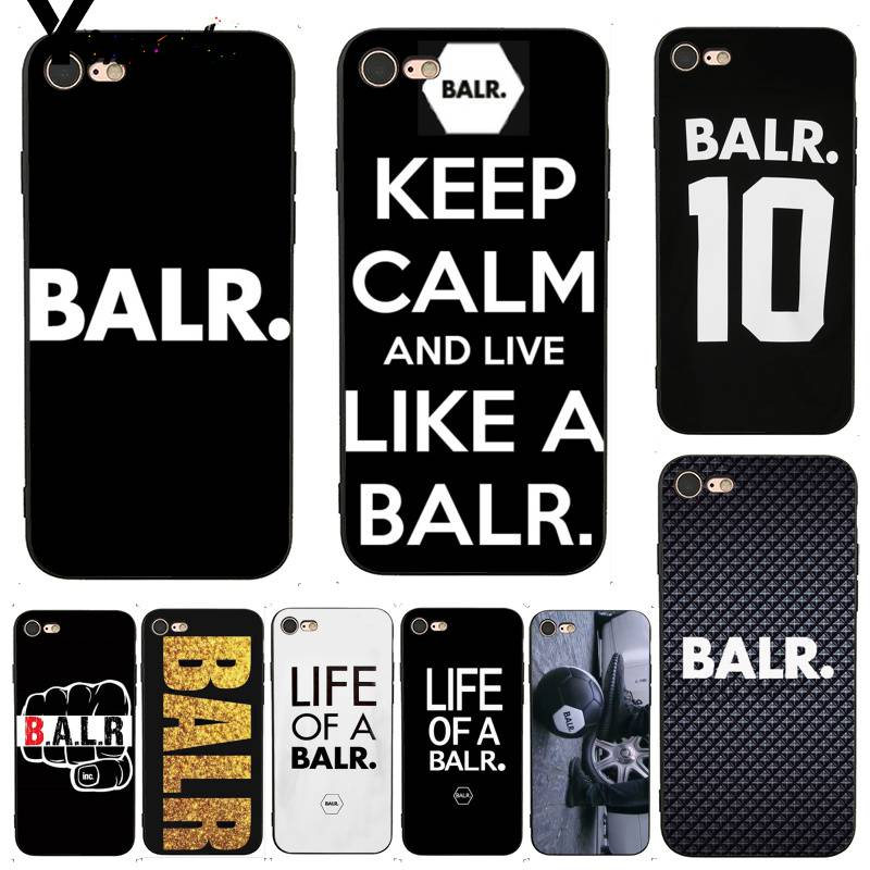 Yinuoda BALR Luxury Coque Shell Print Phone Accessories Case for iPhone 7 X 6 6S 8