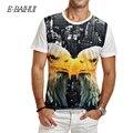 E-BAIHUI 2016 men's summer Brand clothing Eagle T-shirt Men Cotton Clothing Men 3D T-shirt  Fitness Skateboard Top Tee y004