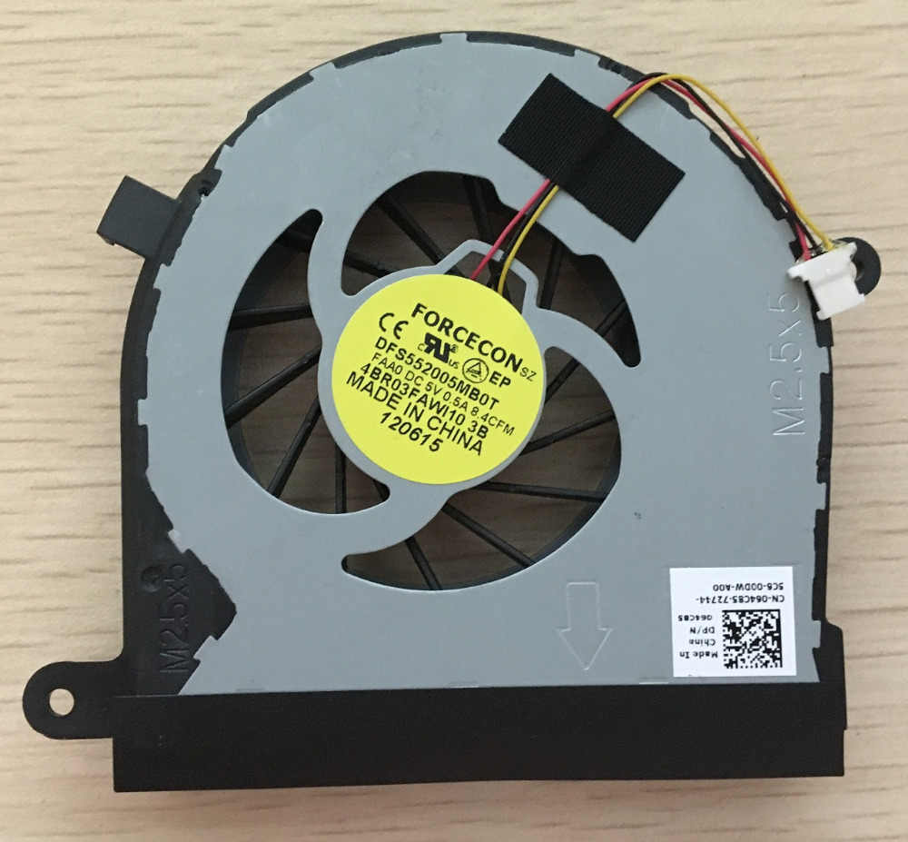 SSEA Atacado Brand New CPU Ventilador cooler para DELL Inspiron 17R N7110 VOSTRO 3750 laptop Cooling FAN DFS552005MB0T