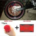 Bicicleta da sujeira do motocross enduro aro da roda falou mortalhas skins covers & etiqueta reflexiva rim stripe tape para honda yamaha kawasaki