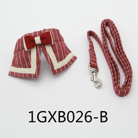 pet Cat dog collar leash small cats puppy pets leashes dogs accessories bow tie cute vintage striped England Lead collars
