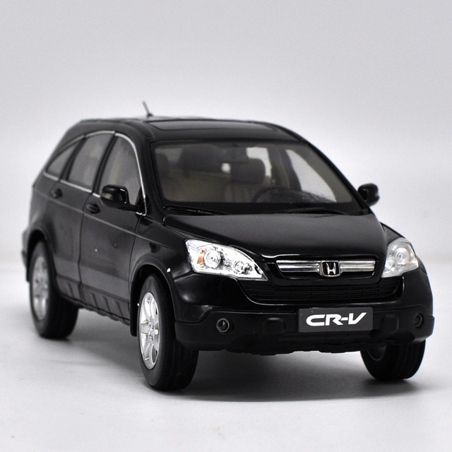 1 18 Scale Honda Cr V 2008 Black Suv Alloy Cast Model Car Toy