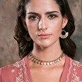 Prata choker colar colar curto do vintage de prata banhado a liga de zinco choker colar para mulheres jóias bens