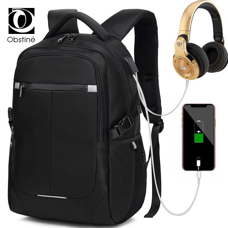 Business Backpack Male Usb Charger Anti Theft Backpacks for Men Black 15.6 Inch Laptop Bagpack Women Large Back Pack for Travel fashion men waterproof anti theft laptop backpack usb charging large back pack travel school bags bagpack for male boy
