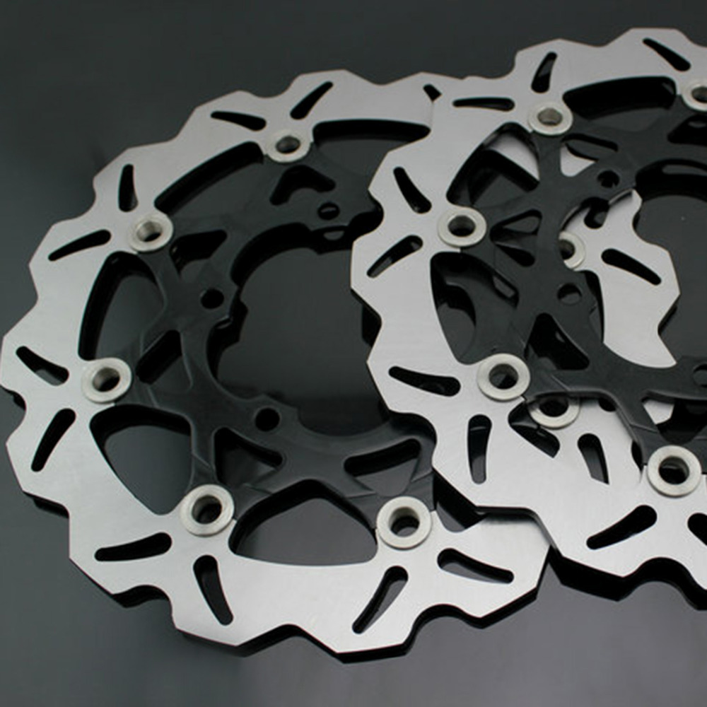 motorcycle Front Disc Brake Rotor Scooter Front Rear Disc Brake Rotor for SUZUKI GSXR600/750 2006-2010 GSXR1000 K5 2005-2006 2 pieces motorcycle front disc brake rotor scooter front rear disc brake rotor for honda cb400 1994 1995 1996 1997 1998