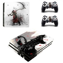 لعبة Bloodborne النفوس المظلمة PS4 الموالية الجلد ملصقا صائق الفينيل للبلاي ستيشن 4 وحدة التحكم و 2 تحكم PS4 الموالية الجلد ملصقا