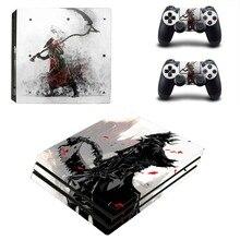 Gra Bloodborne Dark Souls PS4 Pro naklejka naklejka Vinyl na konsolę Playstation 4 i 2 kontrolery PS4 Pro naklejka