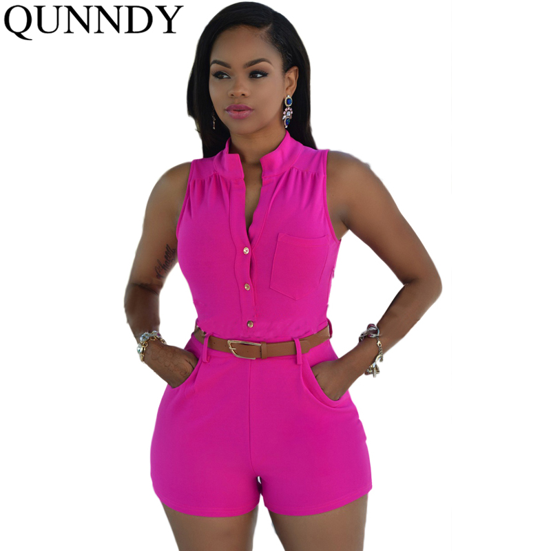 2016 Chic Elegant Jumpsuit Romper Womens Sleeveless Overalls Ladies Casual Clothing Plus Size Short Beach Party Club Playsuit