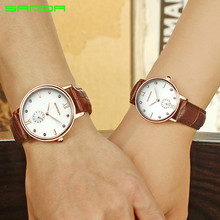 Lovers Watch Vintage Chic Couple Waterproof Diamond Watches Pair Men And Women Leather Band Business Luxury