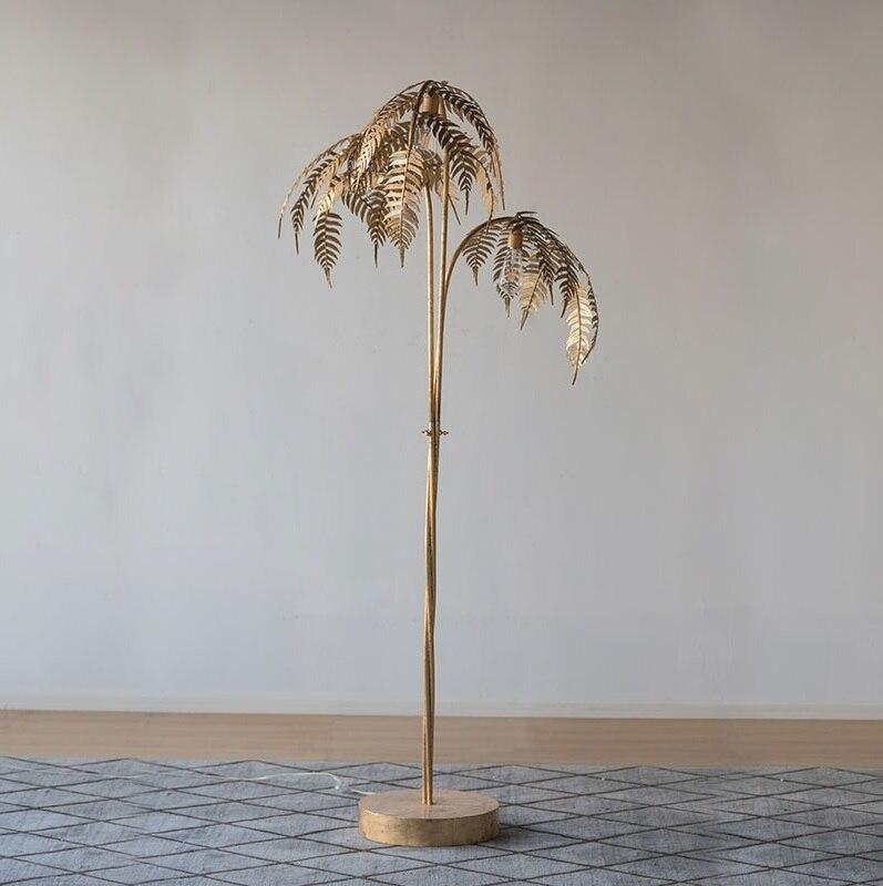 купить 180cm Metal Palm Tree Floor Lamp with Golden Finish / 3 Light Gold Tree по цене 57797.88 рублей