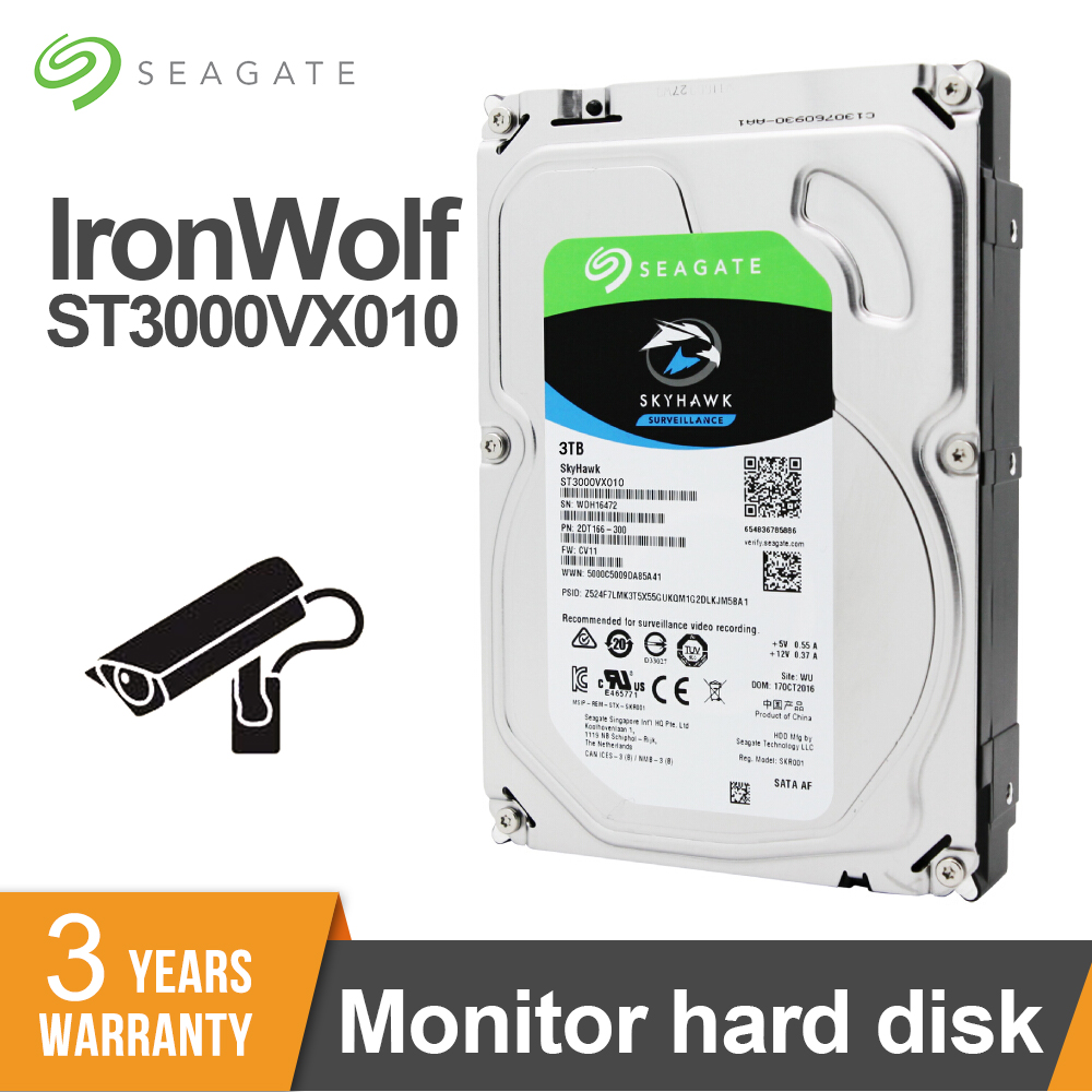 Seagate Internal <font><b>HDD</b></font> Skyhawk 3TB 3.5