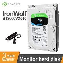 Seagate внутренний HDD Skyhawk 3 ТБ 3,5 «SATA видеонаблюдение 5900 об/мин жесткий диск 6 ГБ/сек. 64 Мб ST3000VX010 Мониторинг безопасности
