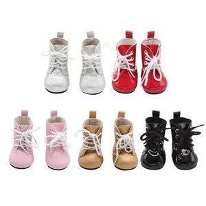 Image 1 - 1ペアのための18インチの人形ミニ人形の靴漫画の人形ブーツ人形sneackersアクセサリーホット販売7センチメートル