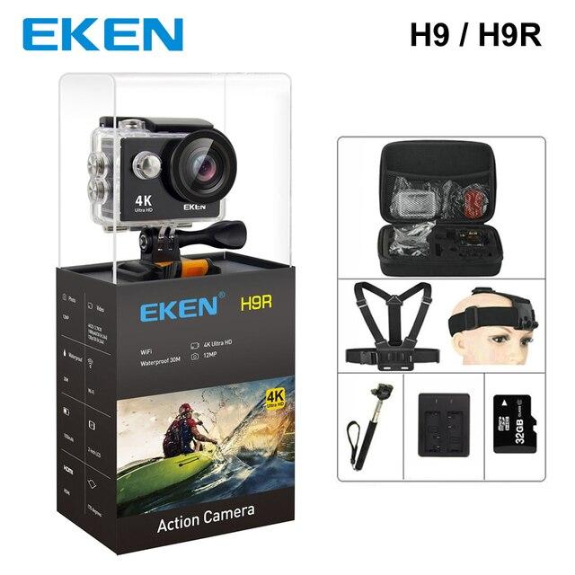 Оригинал Экен H9/H9R Ultra HD 4 К действие Камера 30 м водонепроницаемый 2,0 'Экран 1080 P Спорт камера go extreme pro cam