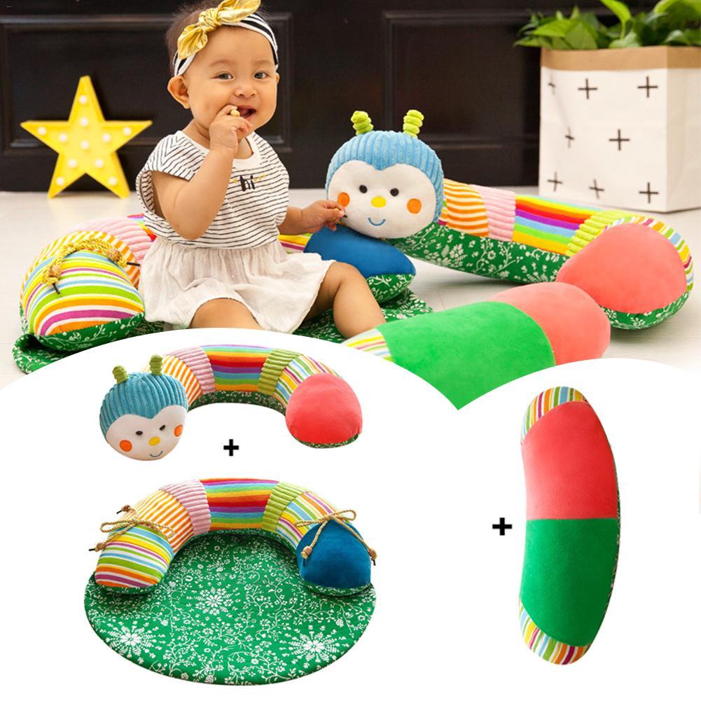 цена на New Cartoon Baby Learning Sitting Chair Infant Safe Baby Seat Sofa Safety Protective Chair Caterpillar Plush Sofa Floor Crib
