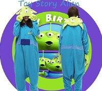 Hot anime śliczne toy story alien fancy dress costume cosplay kapturem piżama kigurumi piżamy hurtownie