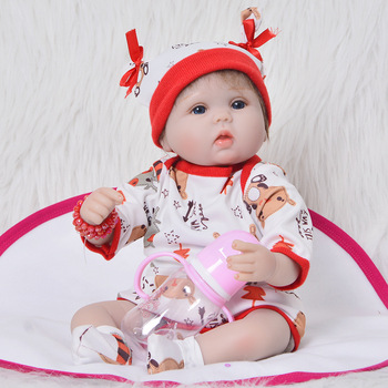 17inch 42cm Soft Silicone Handmade Reborn Baby Girl Dolls Realistic Looking Newborn Baby Doll real touch bebek Birthday Gift