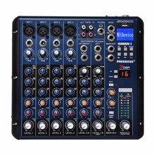 SMR8 Freeboss Bluetooth 8 Canales de Grabación de (4 Mono + 2 Estéreo) 16 Equipo de la Consola de Sonido DSP USB Profesional para DJ Audio Mixer