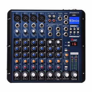 Image 1 - Freeboss SMR8 บลูทูธUSBบันทึก 8 ช่อง (4 MONO + 2 สเตอริโอ) 16 DSPโบสถ์โรงเรียนปาร์ตี้คาราโอเกะUSB DJ Mixer