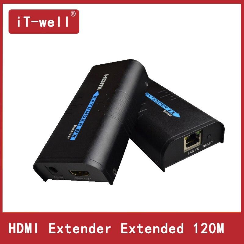 цена на HDMI Extender Over IP/TCP UTP/STP CAT5e/6 Rj45 LAN Network Support 1080p 120m Extension Like HDMI Splitter Transmitter Receiver