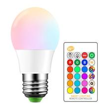 E27 LED 16 색 변경 RGB 매직 전구 램프 85 265V 110V 120V 220V RGB Led 스포트 라이트 + IR 원격 제어