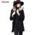 Outono nova Cashmere Luxo Casaco de Inverno Mulheres 2016 Casaco De Lã Das Mulheres Gola De Pele Plus Size Casaco De Lã Elegante Manteau Femme