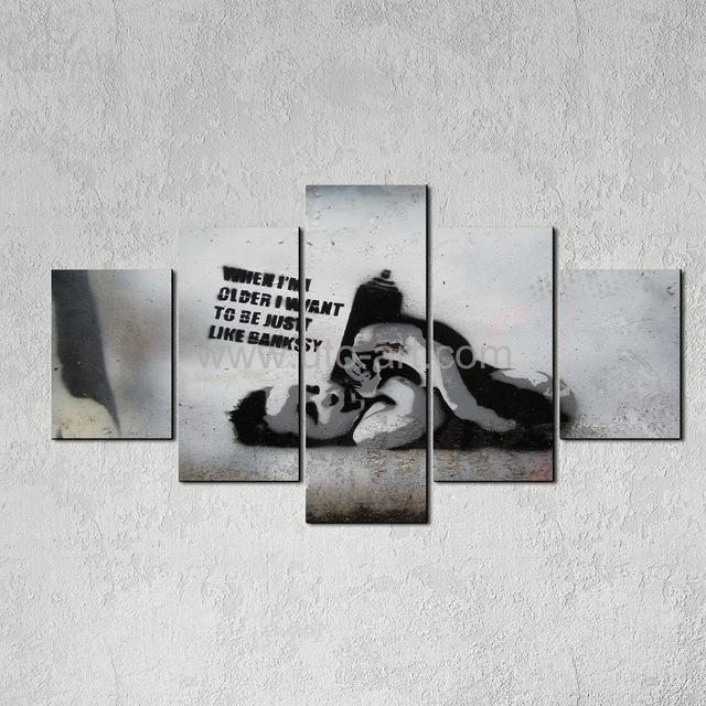 New Home Decor Canvas Art Printed Painting Banksy Custom Canvas Prints Picture Digital Printing On Canvas