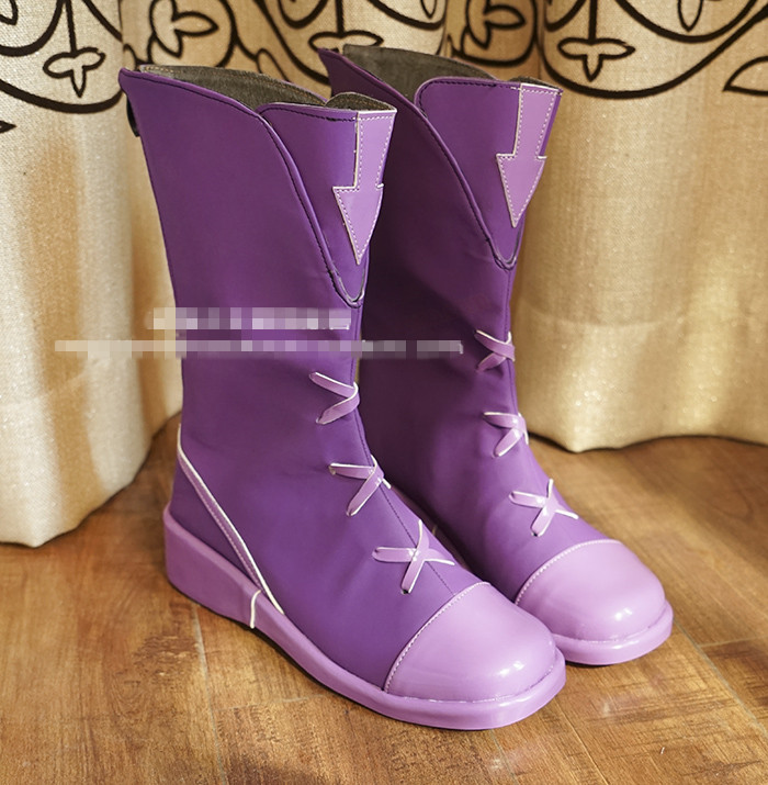 Anime!LOL Fifth Anniversary Video Game Ahri Uniform Cosplay Shoes Costume Accessories Purple Ankle Boots For Women Free Shipping