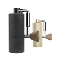 Foldable Aluminum portable coffee grinder steel grinding core design Manual Folding type Coffee bean mill machine 1pc