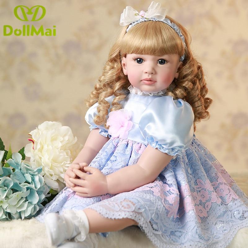 """NPK 24 """"/60 см Bebe Alive силиконовая кукла принцесса для девочек, игрушки для детей, подарок на день рождения, куклы"""