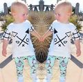 2016Boys girls clothing set brand baby girls suits boys white tracksuit summer boys outfits spring baby boy clothes sets