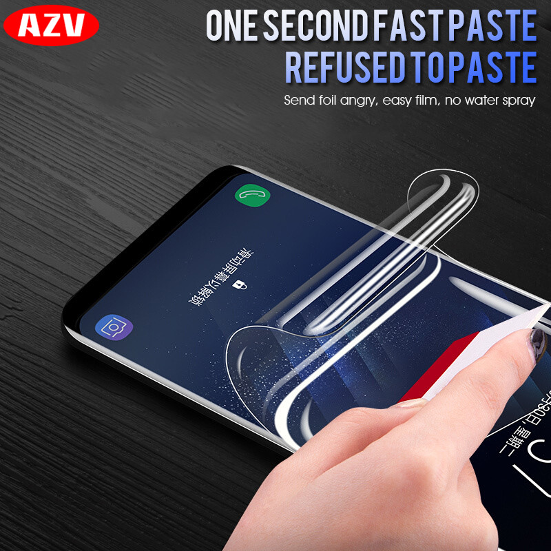 AZV Full Cover Soft Hydrogel Film For Samsung Galaxy S9 S8 Plus S6 S7 Edge Soft Film For Samsung S8 S9 Note 8 Film (Not Glass)