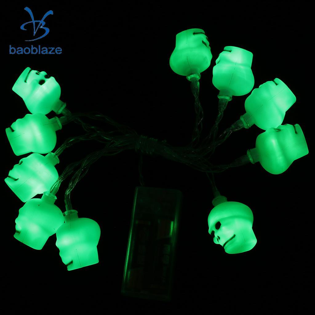 Halloween Skeleton Shape String Fairy Light Battery Powered Halloween Decor