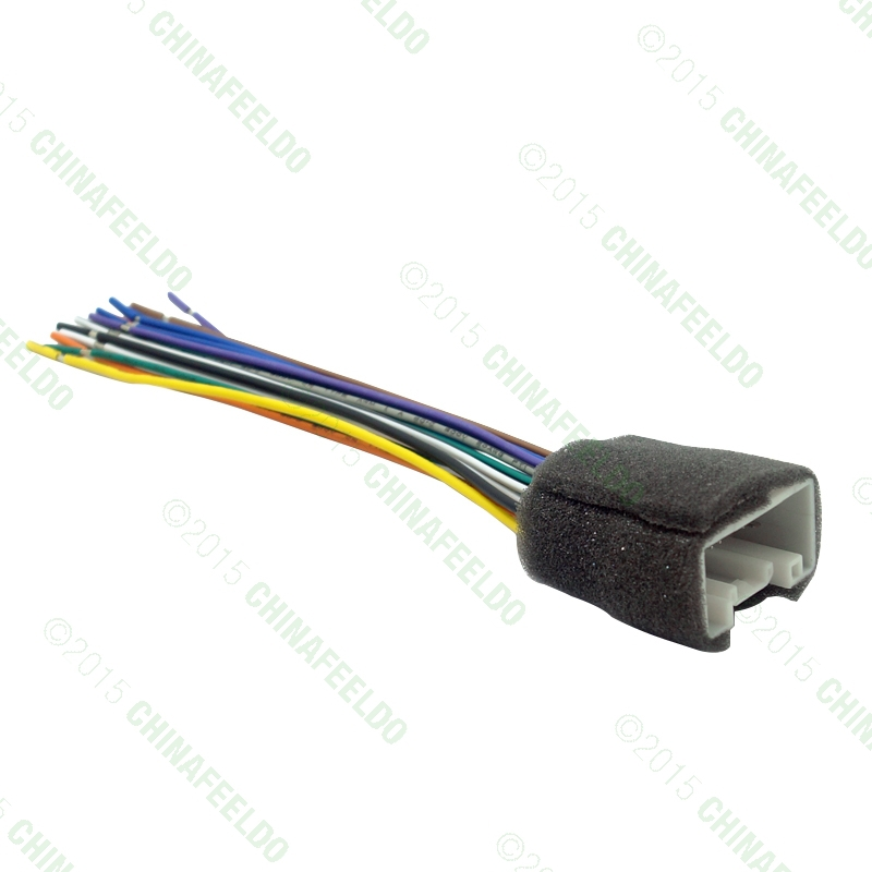 FEELDO CAR RADIO STEREO WIRING HARNESS ADAPTER For MITSUBISHI LANCER 08 14 Aftermarket Installation CD DVD feeldo car radio stereo wiring harness adapter for mitsubishi  at gsmx.co