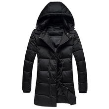 The new winter men long thickening cotton-padded clothes The fashion leisure hooded jacket