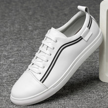 Fashion New Genuine Leather Large Size Mens Casual Shoes Breathable Top Layer Single Loafers