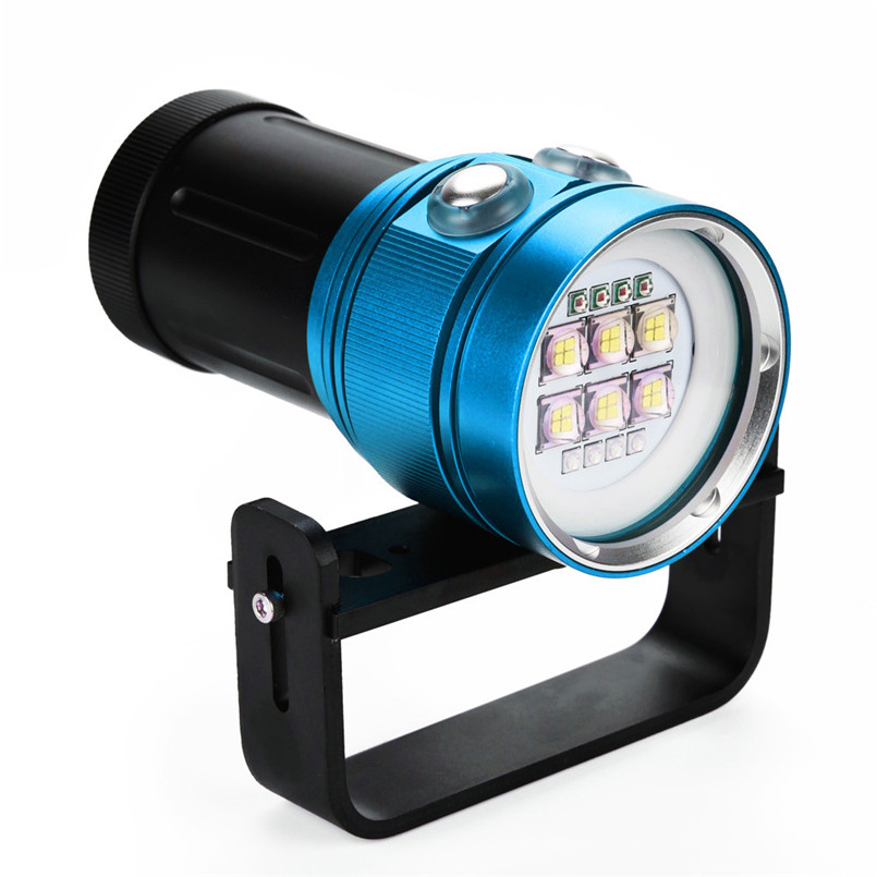 Multifunction Night Bike Bicycle light Diving Flashlight Light Torch Photography 100M Underwater 4x Red+4x purple LED A1