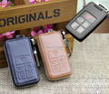 Genuine Leather Car Key Case For Volvo XC60 S80 S80L 5 Buttons Remote Key Holder Wallets With Key Rings