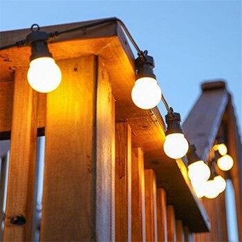 Thrisdar 18M 30 LED Globe Christmas Fairy String Light G50 Outdoor Patio Backyard Bistro Cafe Party Festoon Ball Garland Light