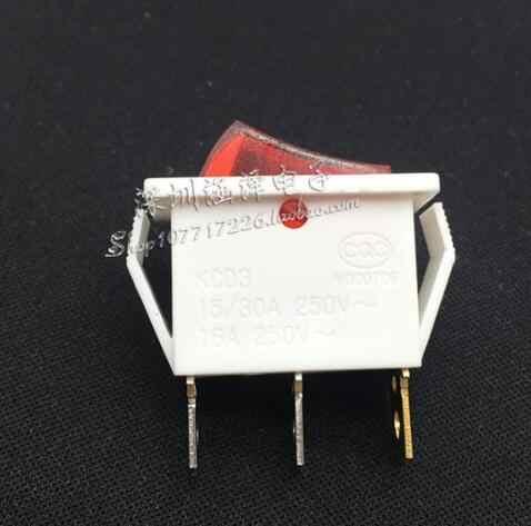 Livraison gratuite 20 PCS/lot 10*28 MM interrupteur à bascule blanc avec lampe KCD3-102N 3Pin 2 fichier interrupteur à bascule 16A interrupteur d'alimentation