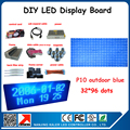 6pcs 320*160mm p10 LED display modules outdoor waterproof advertsing led screen board 104*40cm blue color p10 outdoor